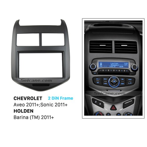 Hot Sale 2DIN 2011+ Chevrolet Aveo Sonic HOLDEN Barina Car Radio Fascia DVD Player Dash Surrounded Install frame Trim Panel Face Plate Kit