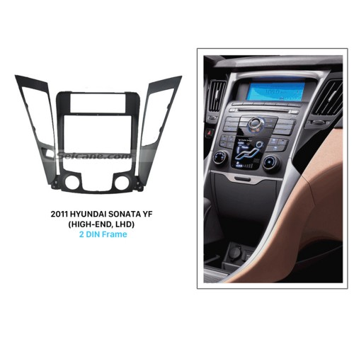 Superior Double Din 2011 HYUNDAI SONATA YF HIGH-END LHD Car Radio Fascia Audio Player CD Trim Stereo Install Frame