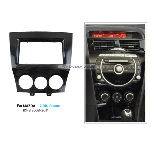 Top Quality 2Din 2011 Mazda RX8 Car Radio Fascia Auto Stereo DVD Player Installation Trim Panel Kit Frame Car Styling