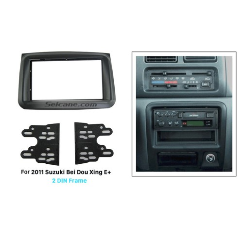 Black 2Din 2011 Suzuki Bei Dou Xing E+ Car Radio Fascia DVD Frame Stereo Install Dash Mount Kit Adapter