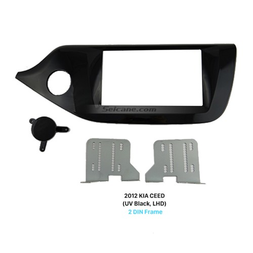 UV Black 2Din Car Radio Fascia for 2012 KIA CEED Left Hand Car Face Plate Panel Dash Kit Trim Installation Frame