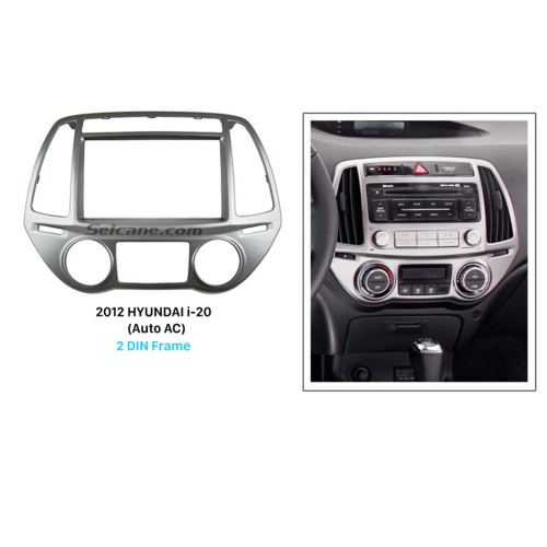 Delicate Double Din 2012 HYUNDAI I-20 Auto AC Car Radio Fascia Dash CD Audio Player Panel Plate Frame