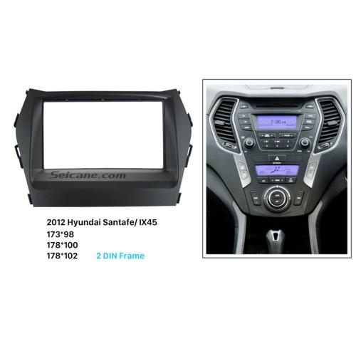 Nice Double Din 2012 HYUNDAI SANTAFE IX45 Car Radio Fascia In Dash Mount Kit Auto stereo Adapter Trim Bezel Frame
