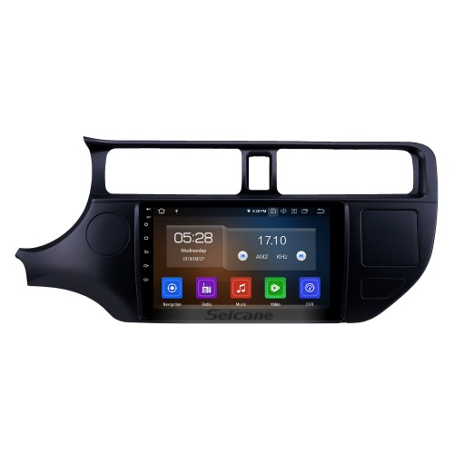 HD Touchscreen 2012 Kia Rio LHD Android 10.0 9 inch GPS Navigation Radio Bluetooth Carplay AUX USB Music support SWC OBD2 Mirror Link Backup camera
