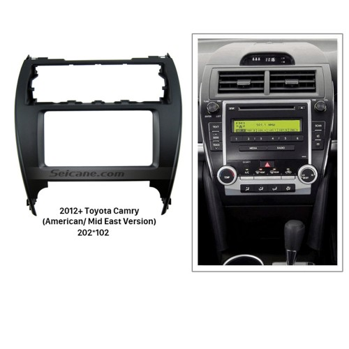 Fashionable 2Din 2012+ Toyota Camry American Mid East Version Car Radio Fascia Stereo Dash Trim Bezel DVD Panel Frame