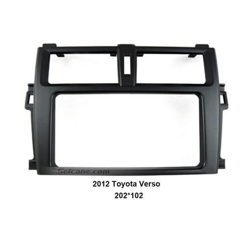 202*102mm Double Din 2012 Toyota Verso Car Radio Fascia Autostereo Panel kit Audio frame Dash CD