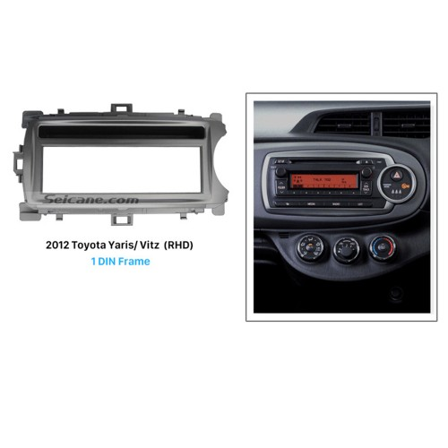 Great 1Din 2012 Toyota Yaris Vitz RHD Car Radio Fascia Surround Panel Dash Mount Frame Auto Stereo Interface