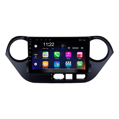 Hot Selling Android 8.0 2013-2016 HYUNDAI I10 GPS Navigation Car Audio System Touch Screen AM FM Radio Bluetooth Music 3G WiFi OBD2 Mirror Link AUX Backup Camera USB SD 1080P Video