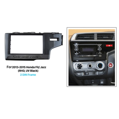 UV Black 2Din 2013 2014 2015 Honda Fit Jazz RHD Car Radio Fascia Auto Stereo Adaptor Dash Mount DVD Player Frame
