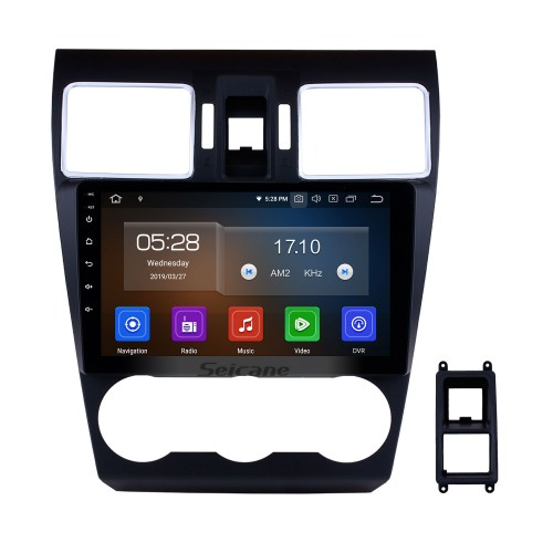 Android 10.0 9 Inch HD Touchscreen In Dash Radio Head Unit For 2014 2015 2016 Subaru Forester GPS Navigation Bluetooth Music USB Audio System Support Backup Camera Digital TV 1080P Video DVR Steering Wheel Control