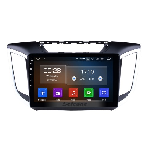 10.2 Inch Android 4.4 Radio For 2014 2015 HYUNDAI IX25 Creta with 3G WiFi Bluetooth GPS Navigation system Capacitive Touch Screen TPMS DVR OBD II Rear camera AUX Headrest Monitor Control USB SD Video