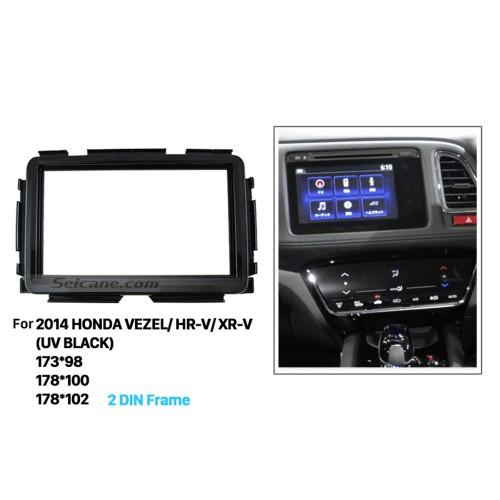 Exquisite Double Din 2014 HONDA VEZEL HR-V XR-V Car Radio Fascia Trim Installation frame Dash Mount DVD Stereo Player