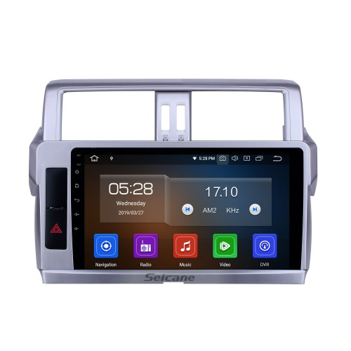 2014 Toyota Land Cruiser Prado 10.1 inch Android 10.0 HD Touchscreen Bluetooth Radio with GPS Navigation Carplay support Steering Wheel Control