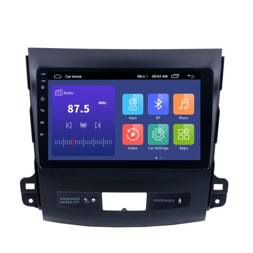 2006-2014 MITSUBISHI Outlander 9 inch Touch Screen Android 9.0 Radio Bluetooth GPS Navigation system with WIFI support OBD2 DVR Backup camera TV USB Mirror link