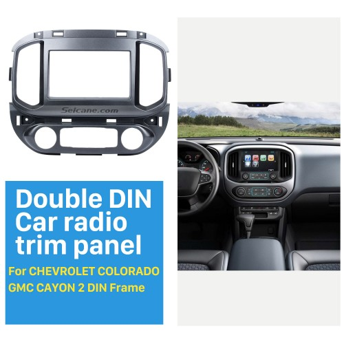 2 DIN 2015 Chevrolet Colorado GMC Cayon Car Radio Fascia Stereo Dash Surrounded Install Frame Trim Panel Car Kit Face Plate