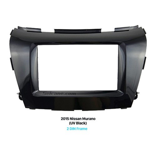 UV Black Double Din 2015 Nissan Murano Car Radio Fascia Dash Trim Kits Stereo Frame Panel Audio Player