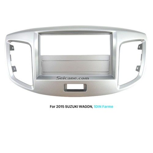 Silver 1Din 2015 Suzuki Wagon Car Radio Fascia DVD Panel Trim Install Frame Stereo Interface