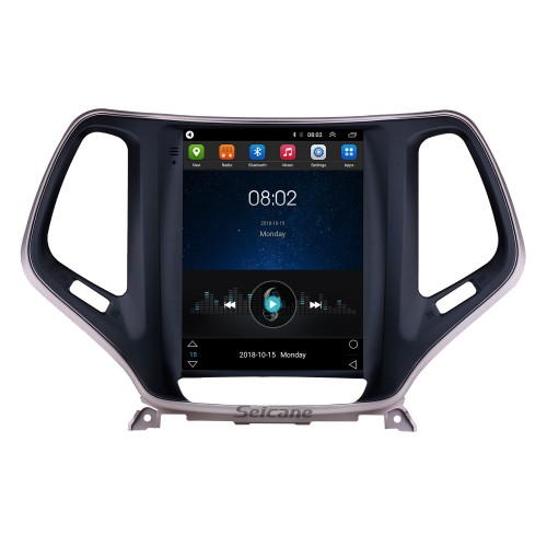 9.7 inch HD Touch Screen 2016 2017 2018 Jeep Cherokee Android 9.1 Radio GPS Navigation Bluetooth Music USB WIFI Audio system Support DVR OBD2 TPMS Digital TV