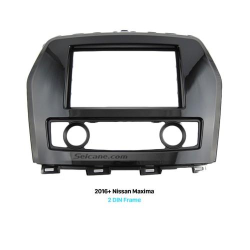 UV Black Double Din 2016+ Nissan Maxima Car Radio Fascia Fitting Kit Installation Frame Panel CD Trim