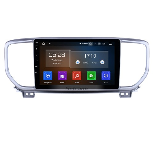 Android 10.0 9 inch GPS Navigation Radio for 2018-2019 Kia Sportage R with HD Touchscreen Carplay Bluetooth WIFI USB AUX support Mirror Link OBD2 SWC