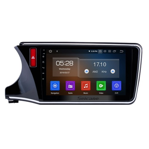 10.1 inch Android 9.0 2014-2017 Honda City LHD HD Touchscreen Radio GPS Navigation Bluetooth WIFI USB Mirror Link Aux Rearview Camera OBDII TPMS 1080P video