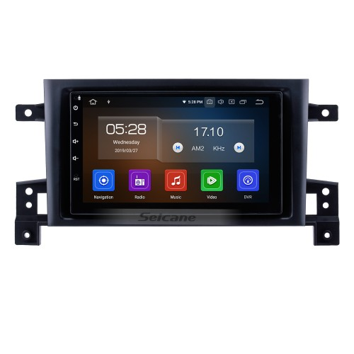 7 inch OEM Android 9.0 Radio GPS Navigation system for 2005-2013 Suzuki Vitara Bluetooth Mirror link Touch Screen Steering Wheel control WIFI support OBD2 DVD player DVR Backup camera