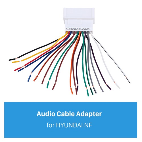 Auto Car Wiring Harness Audio Cable Adapter for HYUNDAI NF/SantaFe/Accent/Kia Carens/Sedona/Optima/Rio