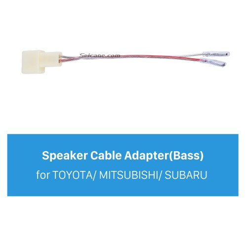 High Quality Wiring Harness Adapter Speaker Cable for TOYOTA/MITSUBISHI/SUBARU (Bass)