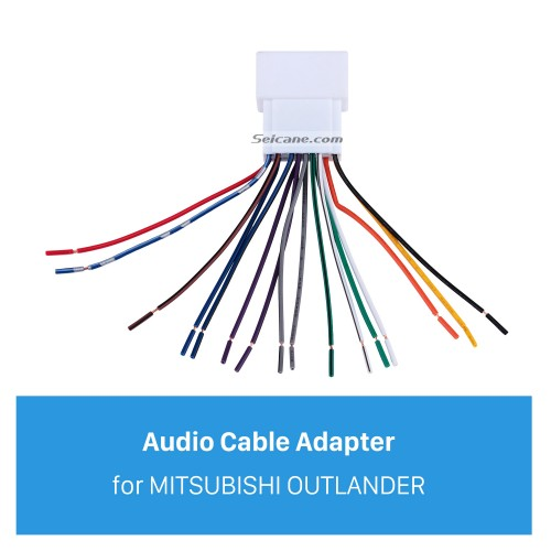 Car Stereo Wiring Harness Plug Adapter Audio Cable for MITSUBISHI OUTLANDER