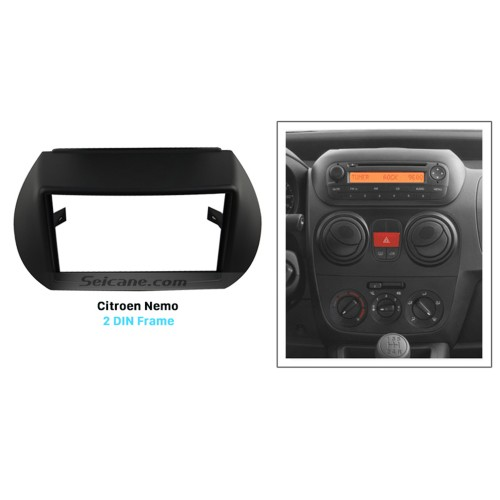 Black Double Din Citroen Nemo Car Radio Fascia Stereo Dash Panel DVD Frame Fit Installation