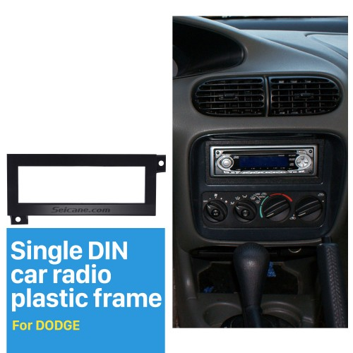 Fantastic 1Din Car Radio Fascia for Dodge CHRYSLER JEEP PLYMOUTH DVD Frame Surround Panel Trim Bezel Auto Stereo Interface