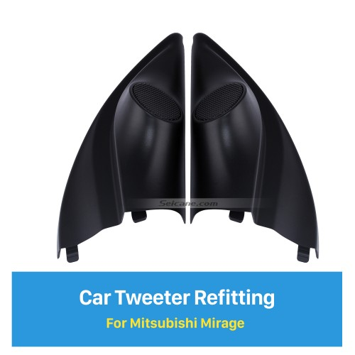 High Quality Audio Door Angle Gums Tweeter Refitting Boxes for Mitsubishi Mirage Car Horn Refit Stereo Installation 2pcs