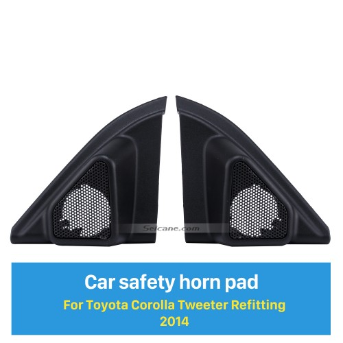 Car Horn Refit Door Angle Gums Tweeter Refitting Boxes for 2014 Toyota Corolla Audio Stereo Installation 2pcs