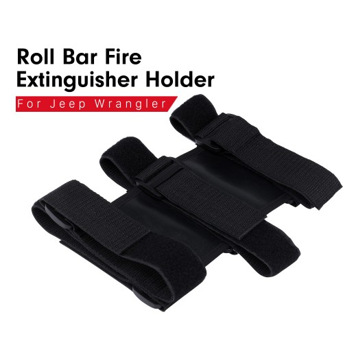 New Interior Roll Bar Fire Extinguisher Holder Safety Protection Kit for Jeep Wrangler Car Accessories