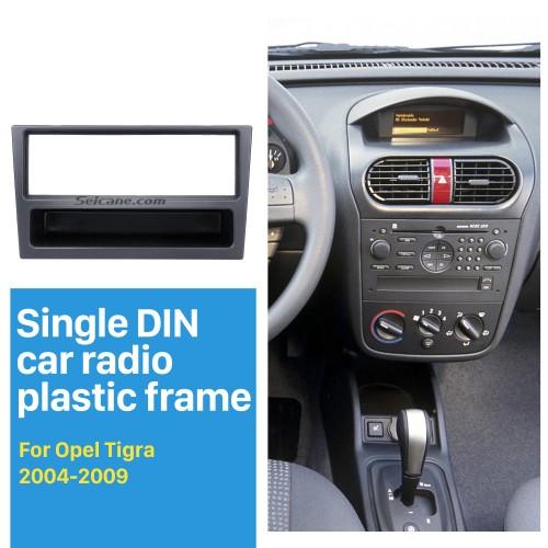 Black 1Din Car Radio Fascia for OPEL Corsa (C) Meriva Omega (B) Vectra Vivaro Frame Surround Panel Stereo Dash CD Audio Player