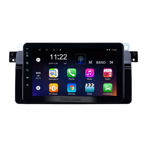 8 inch 1998-2006 BMW 3 Series E46 M3 Android 10.0 GPS Navigation Radio Bluetooth HD Touchscreen AUX Music support Digital TV Carplay OBD2