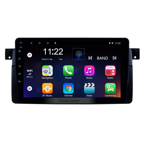 9 inch Android 10.0 GPS Navigation Radio for 1998-2006 BMW M3/3 Series E46/2001-2004 MG ZT/1999-2004 Rover 75 With HD Touchscreen Bluetooth support Carplay