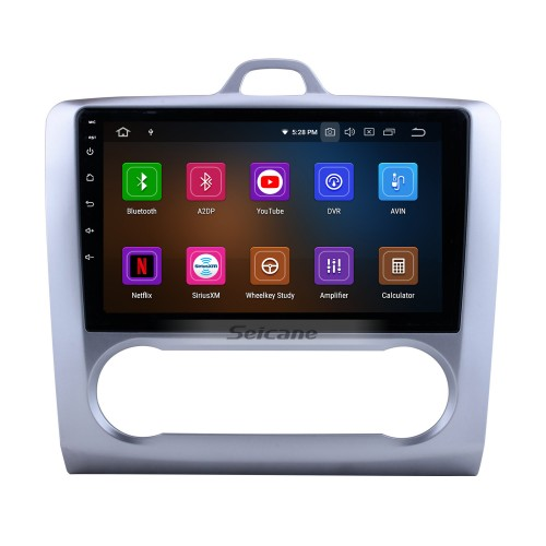 10.1 Inch Android 10.0 HD Touchscreen Radio for 2004-2011 Ford Focus 2 Auto A/C with GPS Navigation Bluetooth Car Stereo Mirror Link USB RDS DAB+ 3G Wifi Steering Wheel Control