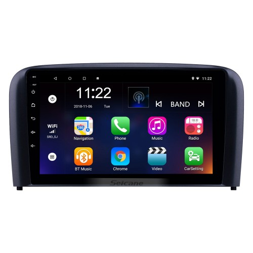 OEM 9 inch Android 10.0 Radio for 2004-2006 Volvo S80 Bluetooth Wifi HD Touchscreen GPS Navigation USB AUX support Carplay DVR OBD Digital TV