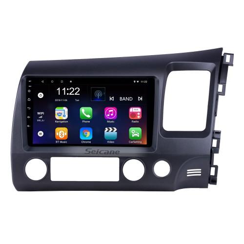 2006-2011 Honda Civic RHD 9 inch Android 10.0 HD Touchscreen Bluetooth GPS Navigation Radio USB AUX support Carplay 3G WIFI Mirror Link TPMS