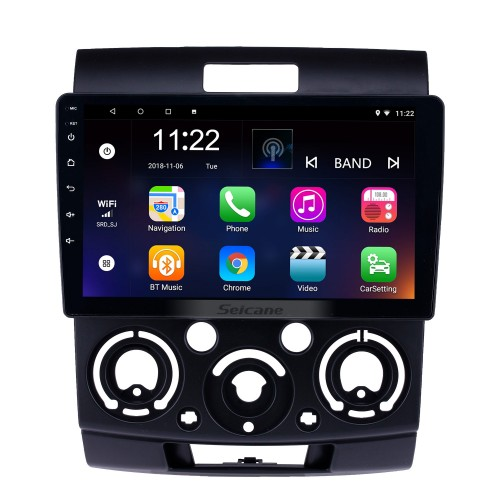 HD Touchscreen 9 inch Android 10.0 GPS Navigation Radio for 2006-2010 Mazda BT-50 with Bluetooth AUX Music support DVR Carplay OBD Rearview camera