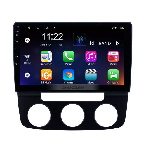 HD Touchscreen 10.1 inch Android 10.0 GPS Navigation Radio for 2006-2010 VW Volkswagen Sagitar Manual A/C with Bluetooth support Carplay TPMS