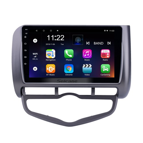 9 inch Android 10.0 GPS Navigation Radio for 2006 Honda Jazz City Auto AC LHD with Bluetooth HD Touchscreen support Carplay DVR OBD