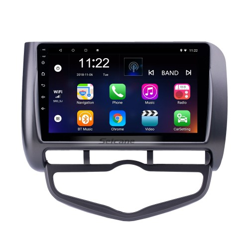 Android 10.0 9 inch HD Touchscreen GPS Navigation Radio for 2006 Honda Jazz City Auto AC RHD with Bluetooth support Carplay SWC DAB+