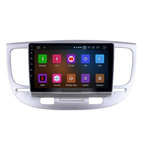 Android 10.0 for 2007 Kia Rio Radio 9 inch GPS Navigation System with HD Touchscreen Carplay Bluetooth support TPMS Rear camera