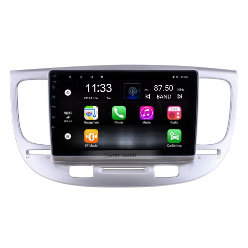 HD Touchscreen 9 inch for 2007 Kia Rio Radio Android 10.0 GPS Navigation System with Bluetooth USB support Carplay Rearview camera