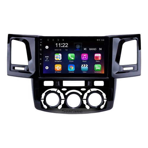 OEM 9 inch Android 10.0 Radio for 2008-2014 Toyota Fortuner/Hilux Manual A/C LHD Bluetooth Wifi HD Touchscreen GPS Navigation support Carplay DVR OBD