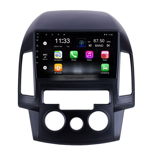 For 2008 2009 2010 2011 Hyundai i30 LHD Manual A/C Radio 9 inch Android 10.0 HD Touchscreen GPS Navigation System with Bluetooth support Carplay
