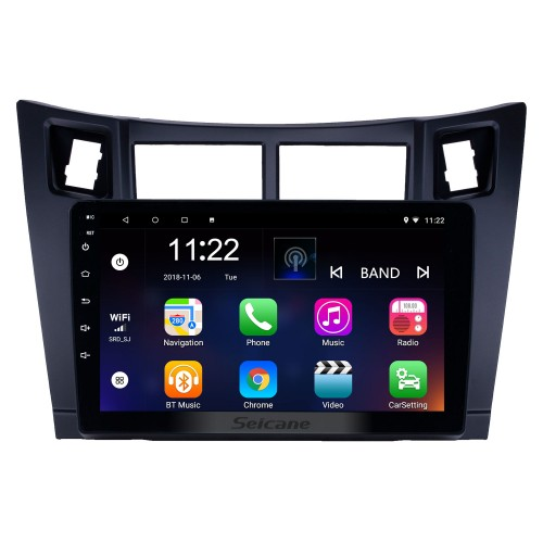 2005-2011 Toyota Yaris/Vitz/Platz Android 10.0 Touchscreen 9 inch Head Unit Bluetooth GPS Navigation Radio with AUX WIFI support OBD2 DVR SWC Carplay