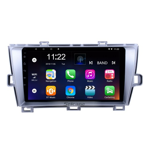 9 inch GPS Navigation Radio Android 10.0 for 2009-2013 Toyota Prius RHD With HD Touchscreen Bluetooth support Carplay Digital TV